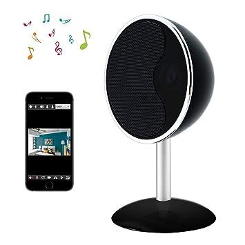Cámara Oculta WiFi LXMIMI Bocina Bluetooth Cámara Espía 1080P Ángulo Amplio de 160 ° Cámara IP Inalámbrica con Visión Nocturna y Detección de Movimiento ...