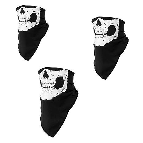 Scrox Bufanda al aire libre Máscara facial para montar Correr Pañuelos sin costuras Diadema Skull Neck