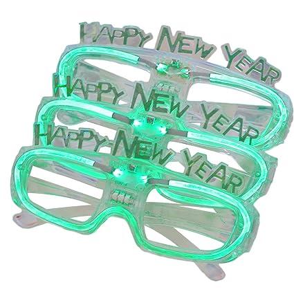 473c258193 Amazon.com  LUOEM 3pcs 2019 Led Glasses New Years Party Sunglasses ...
