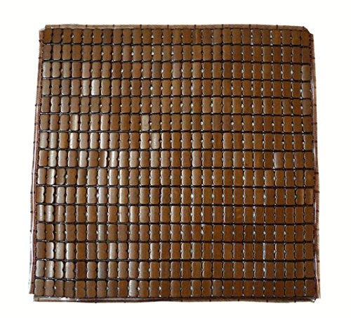 Brown 100/% Handmade Mahjiong Carbonized Nature Bamboo Square Summer Cool Chair Seat Cushion for Office//car//sofa//restaurant//etc 45cm45cm Cooling Mat Laptop Pet Dog
