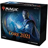 Magic: The Gathering Core Set 2021 (M21) Bundle | 10 Booster Packs + 40 Lands (190 Cards) | Accessories