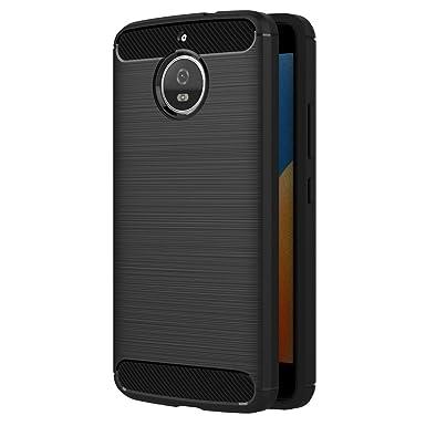 a441dea63e AICEK Moto E4 Plus Case, Black Silicone Cover for Motorola Moto E4 Plus  Bumper Covers