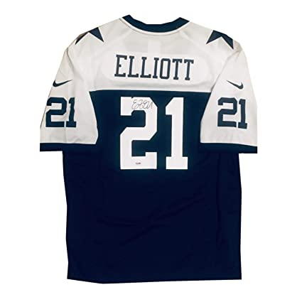 Image Unavailable. Image not available for. Color  Ezekiel Elliott  Autographed Dallas Cowboys Signed Nike Game Football Jersey ... cbaa3a25b