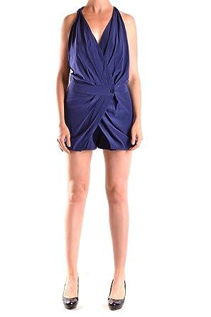 Pinko Damen Mcbi242013o Blau Seide Kleid