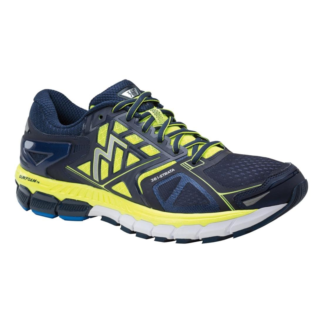 361° Men's Strata Running Shoe B01CEYU7Y8 11.5 EE US|Midnight/Spark