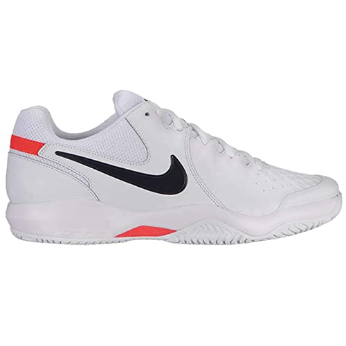buy online 65c61 5ac1c Nike Men s Air Zoom Resistance Tennis Shoe (10 D US, White Black Bright  Crimson)  Amazon.co.uk  Shoes   Bags