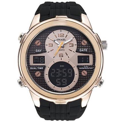 SSQ-CXO Relojes deportivos Reloj digital Número de la moda de los hombres + Indicador