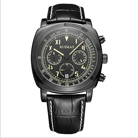 Relojes relojes moda multiuso impermeable luminoso de hombres , black