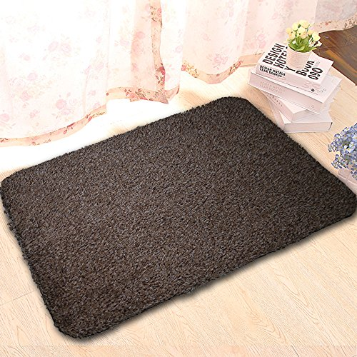 Super Absorbs Mud Room Rug Non-Slip Mat Indoor Doormat Floor Mats Shoes Scraper Cotton Entrance Rug for Bedroom Living Room Kitchen Black and White(18