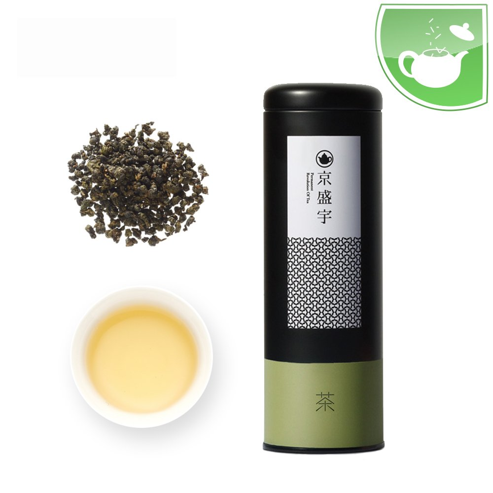 Taiwan Oolong Tea- Canister of Lightly Roasted Loose Leaf Alishan Oolong Tea, 100g from Jing Sheng Yu