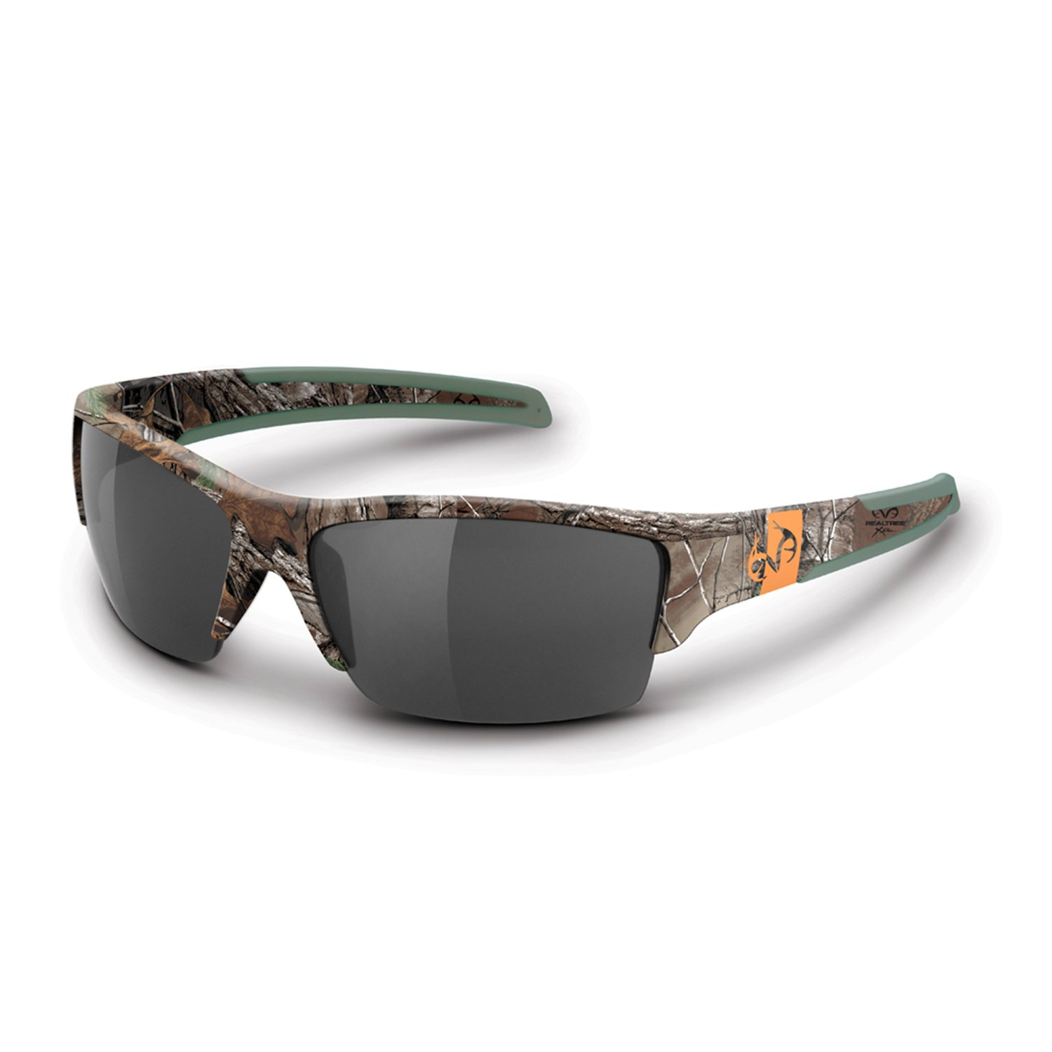 Realtree Ramrod Performance Sunglasses | Realtree Xtra Green | Polarized Smoke