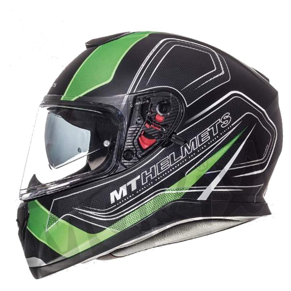 Black//Matte Green XL black and green MT Thunder 3/SV Trace Full-Face Helmet