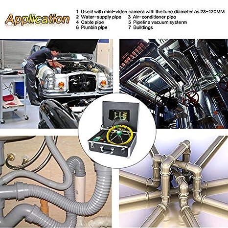 Amazon.com: Cámara de inspección de tubería AMOCAM, tubo de ...