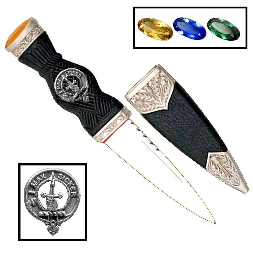 Scottish Clan Crest Sgian Dubh ~ Kirkpatrick