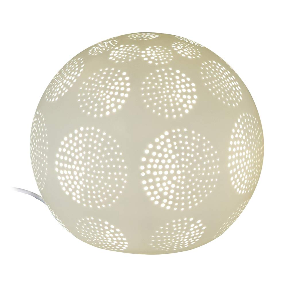 Formano Kugel-Lampe Kugel-Lampe Kugel-Lampe 'Kreise', 21 cm, weiss dc837d