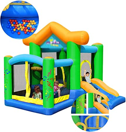Castillo hinchable Castillo Inflable Marine Juguetes del Patio Toboganes For Niños La Plaza Al Aire Libre Que Despide Cama Adecuados For Parques Piscinas Patios: Amazon.es: Hogar