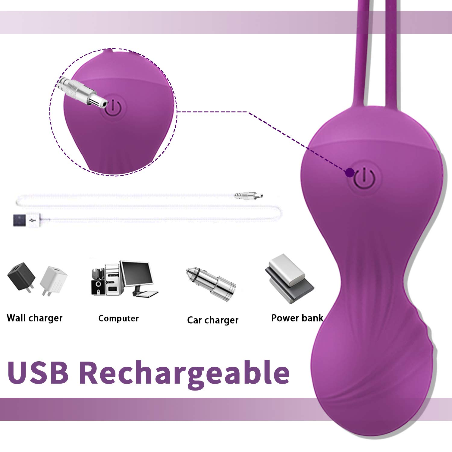 Kegel Exercise Weights for Women-Doctor Recommended Pelvic Floor Exercises Advanced Tightening,Safe Silicone Remote Controlled Kegel Balls