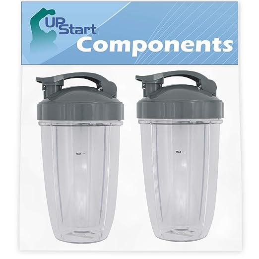 Upstart Components - Juego de 2 tazas de repuesto de 24 onzas con ...
