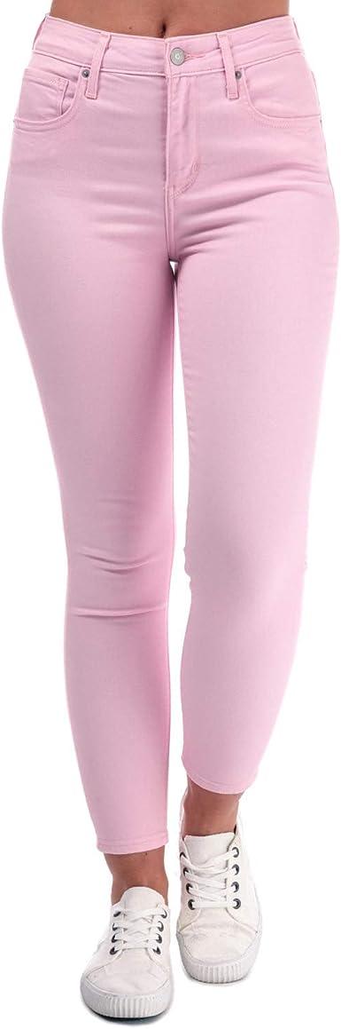 Levi S 721 Pantalones Vaqueros Ajustados Para Mujer Altura Alta Color Rosa Claro Rosa Rosa 32 W Amazon Es Ropa Y Accesorios