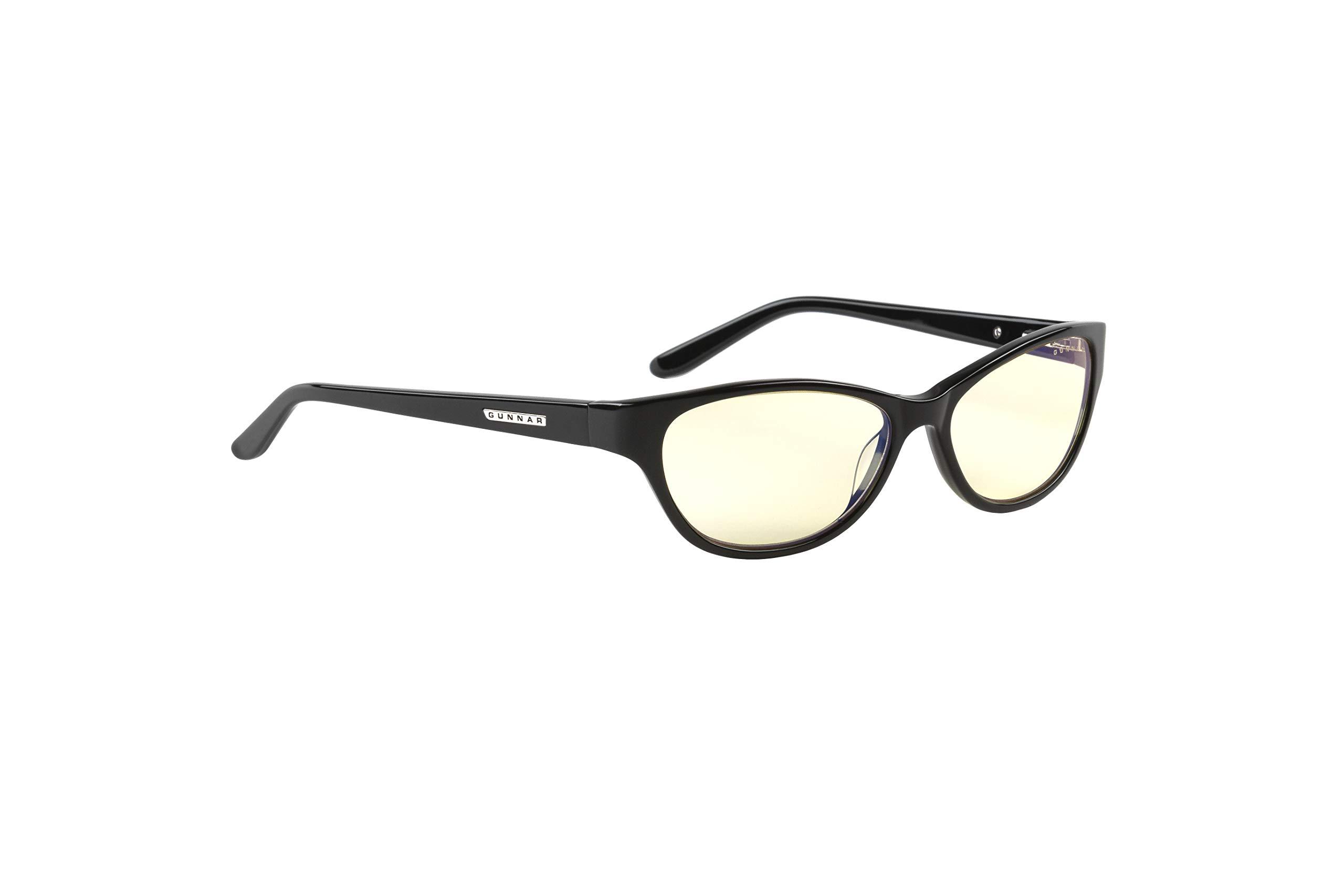 GUNNAR Reading Glasses/Jewel 1.25x Power, Amber Tint - Patented Lens, Reduce Digital Eye Strain, Block 65% of Harmful Blue Light