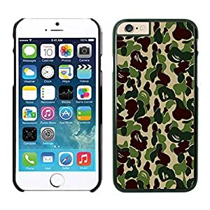Apple Iphone 6 Plus Case, Popular Camo Design Phone Case Cover for Iphone 6 5.5 Inch Screen, Black Iphone 6 Plus Hard Shell Cover by runtopwell