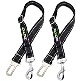 ZOTO Pet Dog Seatbelt Harness 2 Pack 56-80cm Adjustable Cat Seat Belt Strap Lead,Durable Nylon Made Reflective Car Safety Leash Fit All Car Seatbelt Buckle,Dog Car Belt Travel Accessories