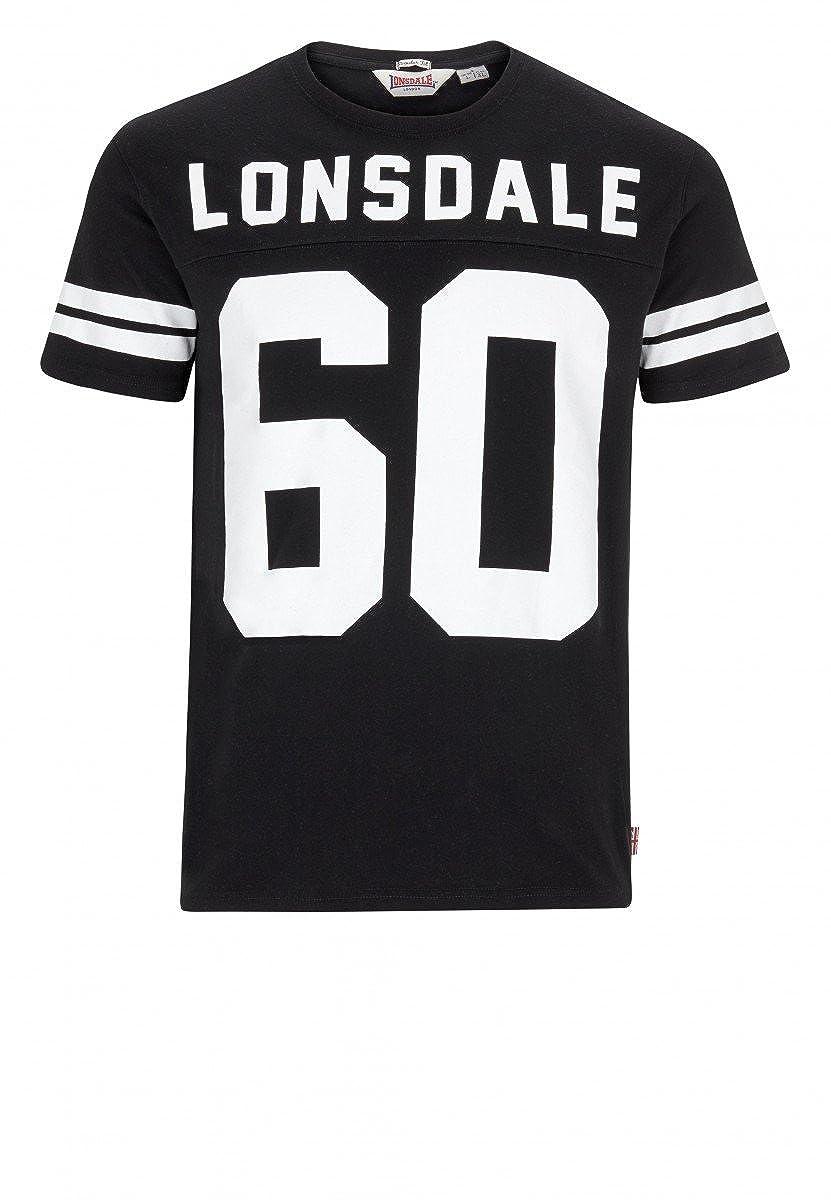 Lonsdale - Camiseta - Cuello redondo - para hombre negro negro ...