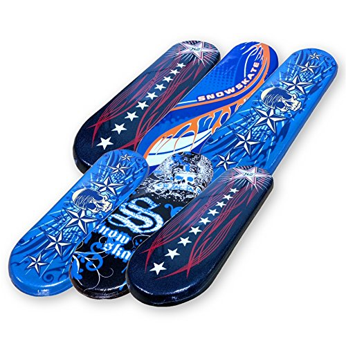 Snow Skate Slick Bottom Foam Snowboards in a 6 Pack