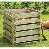 Primrose - Contenitore in legno per compostaggio, piccolo, 373 litri