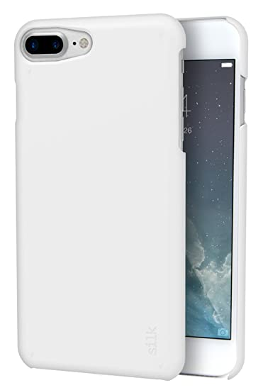 uk availability 08d51 594a1 Silk iPhone 8 Plus/7 Plus Slim Case - Snap Shell for iPhone 8 Plus/7 Plus  [Ultra Slim Fit Soft-Touch Protective Cover] - Pearl White