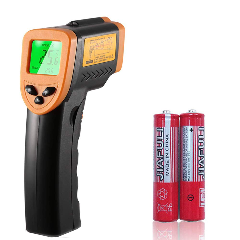 Digital Infrared Laser Thermometer, Temperature Gun-58°F to 716°F (-50℃ to 380℃) Non-Contact Measuring Device for Cooking,Industrial,Water etc by Snoblass