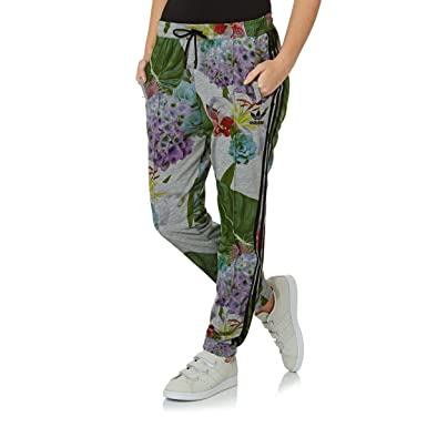 67c73678cb adidas Originals Women's Floral Print Tracksuit Pants - 16UK: Amazon ...