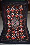 Vintage Tapestry Antique India Handmade Embroidered Patchwork Wall Hanging 76