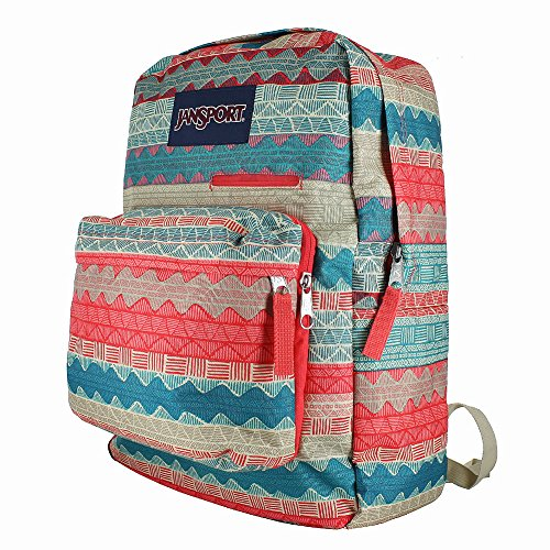 JanSport Unisex Digibreak Malt Tan Boho Stripe Backpack