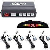 KKmoon Sistema de Radar Reserva Aparcamiento para Coche con LED Retroiluminación Pantalla + 4 Sensores (Gris)