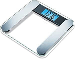 innoHaus Body Fat Analyzer Scale Bmi, Multi-User & Recognition, Digital Weight Scale, XL LCD Illuminated Display, ABF220, Silver