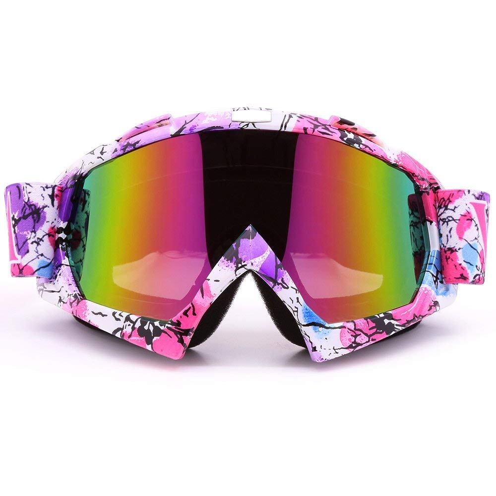 ZDATT Motocross Goggles, ATV Goggles Adult Dirt Bike MX Goggle Glasses and Anti Fog Ski Goggles