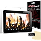 [Pack of 3] TECHGEAR® Acer Iconia A3 Tablet (Model no A3-A10 & A3-A11) ULTRA CLEAR LCD Screen Protector Guard Covers With Screen Cleaning Cloth & Application Card