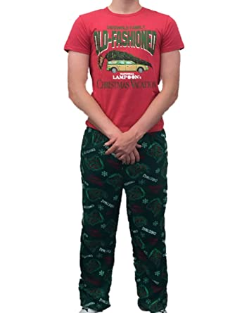 Christmas Vacation Mens Griswold Sleep Set Fleece Lounge Pants T