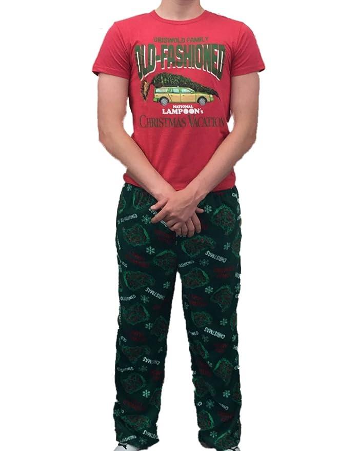 Christmas Vacation Mens Griswold Sleep Set Fleece Lounge Pants T ...