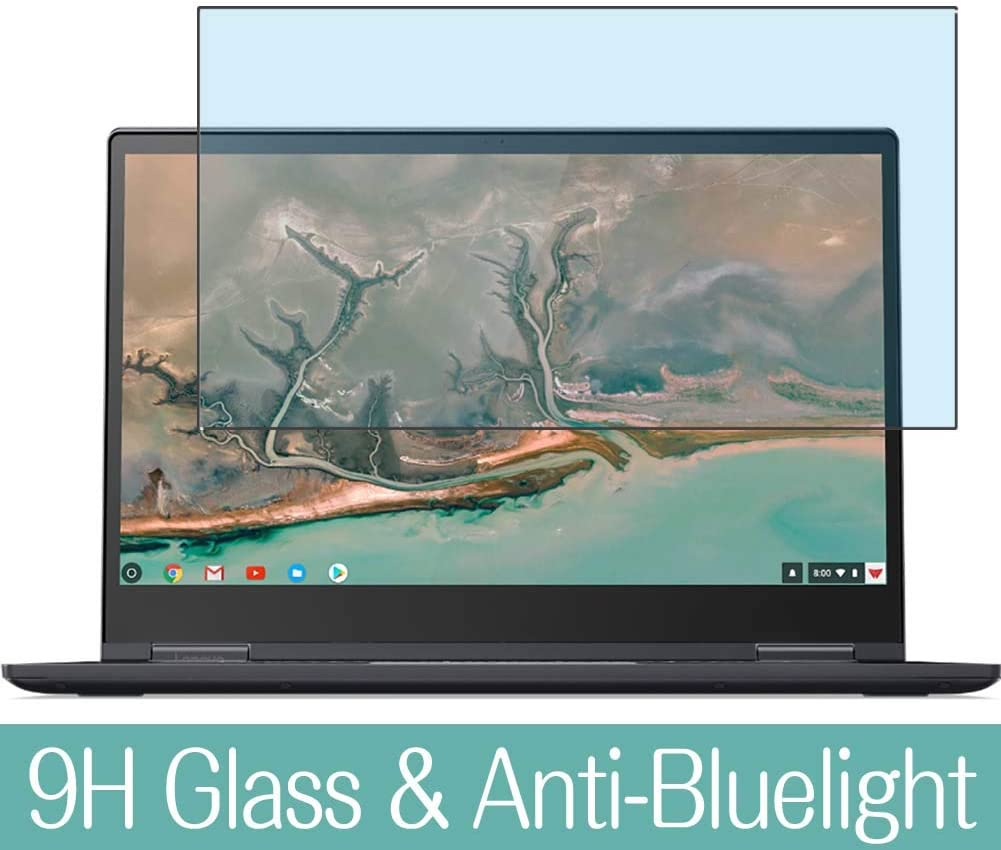 """Synvy Anti Blue Light Tempered Glass Screen Protector for Lenovo Yoga Chromebook C630 15.6"""" Visible Area 9H Protective Screen Film Protectors"""