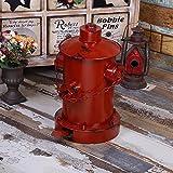 WAWZJ Rubbish Bin American Retro Trash Industrial Wind Old Fire Hydrant Pedal Trash,Gules