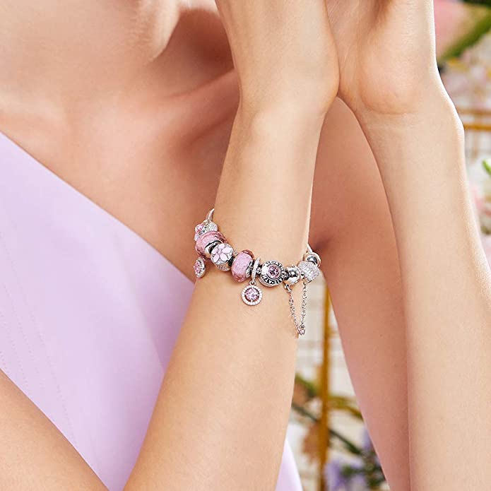 Love Angel Inlay Shiny CZ Stone 925 Sterling Silver Lucky Goddess Charm Beads Fit European Bracelets Jewelry