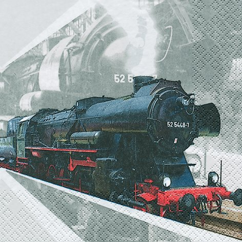 Lok 20 Servietten Lokomotive Eisenbahn 33x33cm Zug
