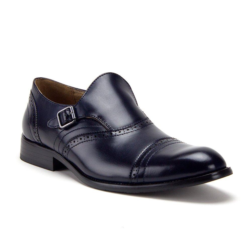 Men's GG-10 Monk Strap Slip On Wing Tip Dress Loafers Shoes Jaz-1MonkStrap