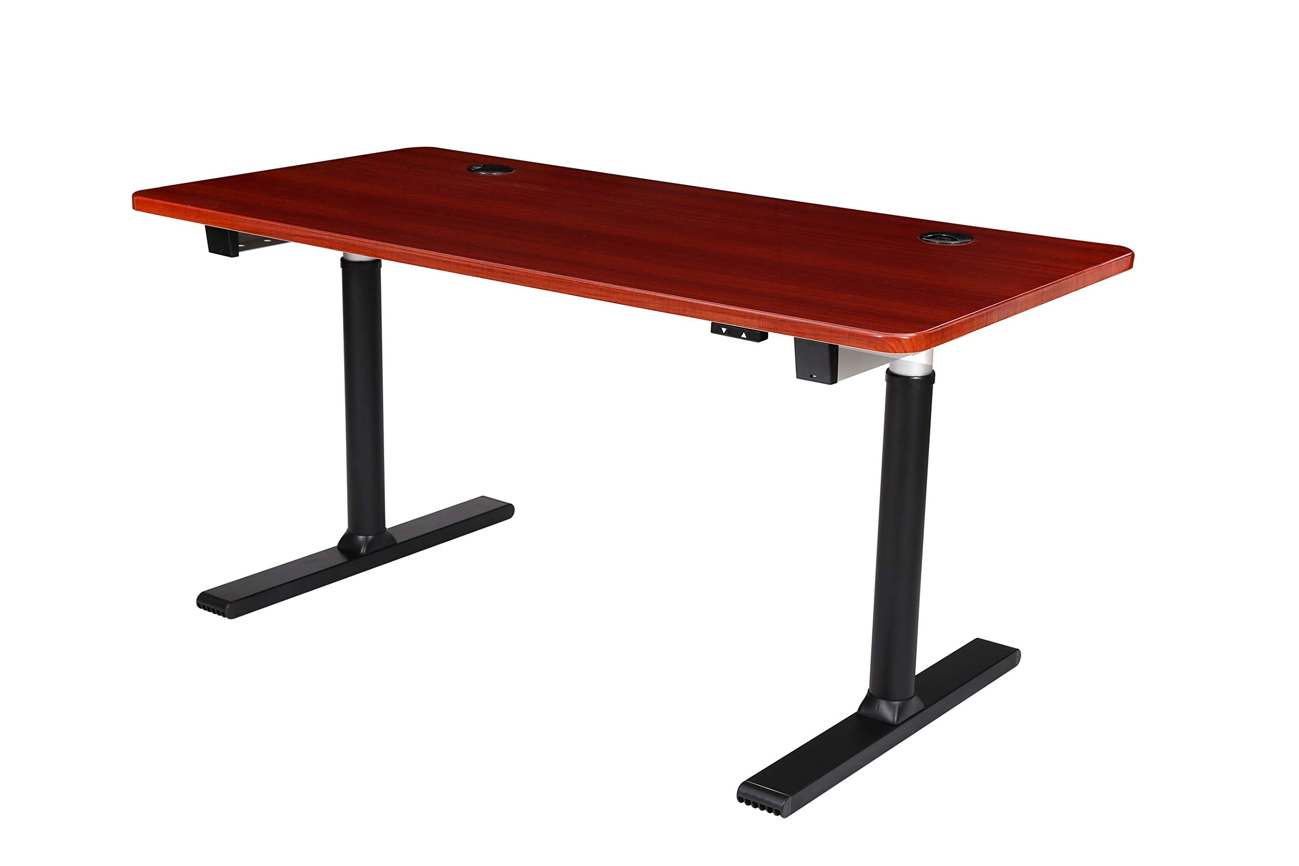 ApexDesk Vortex Series 60'' 2-Button Electric Height Adjustable Sit to Stand Desk (Scarlet Oak Top with 2-Button Controller) by ApexDesk