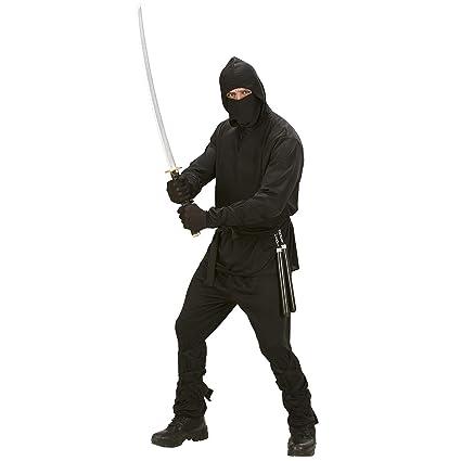 Iden - Disfraz de ninja, talla L (42/44), color negro ...