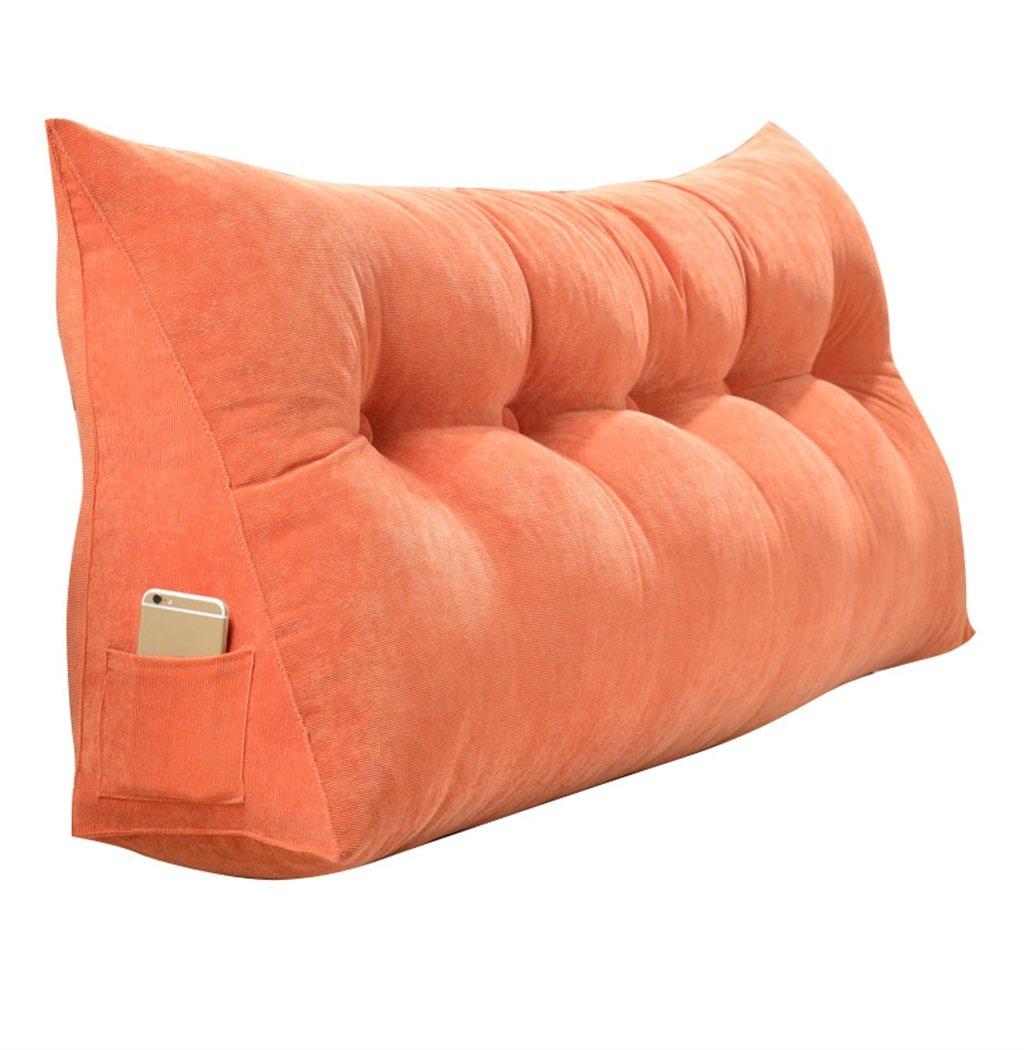 抱き枕 ラージウェッジトライアングルピローバックサポートクッションを読む枕として腰部クッションネックベッドの背もたれをパッド(オレンジ) (サイズ さいず : 200×50×20cm) 200×50×20cm  B07FN22MC8