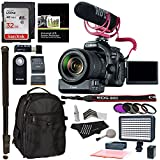 Canon EOS 80D Video Creator Kit with EF-S 18-135mm IS USM Lens, Rode Microphone, Power Zoom Adapter, Sandisk 32GB, LED Light Kit and Accessory Bundle