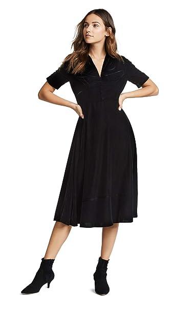 Amazoncom Shoshanna Womens Lakewood Velvet Dress Clothing